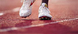Athletic track rubber crumb surface img